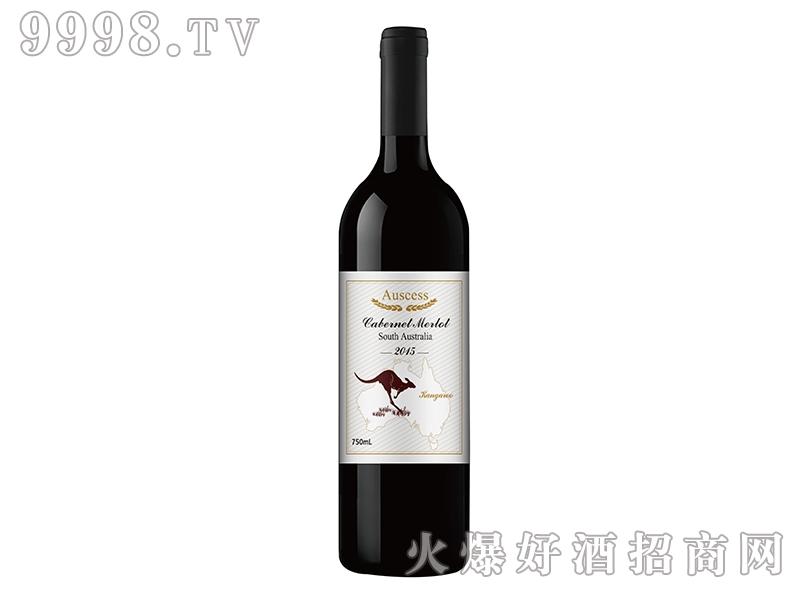 袋鼠赤霞珠梅洛干红葡萄酒