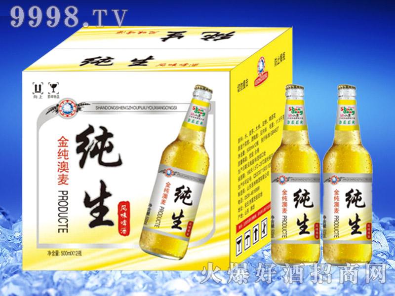 金纯澳麦纯生啤酒500ml瓶