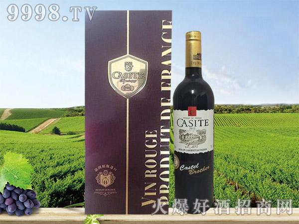 法国卡斯特伯爵红葡萄酒