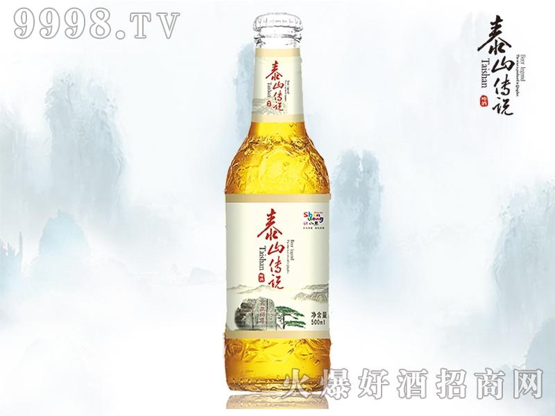 泰山传说品醇啤酒500ml瓶装