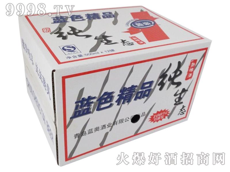 蓝色精品啤酒500mlx12罐