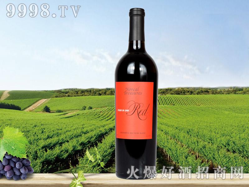 北加宝藏四合一干红葡萄酒