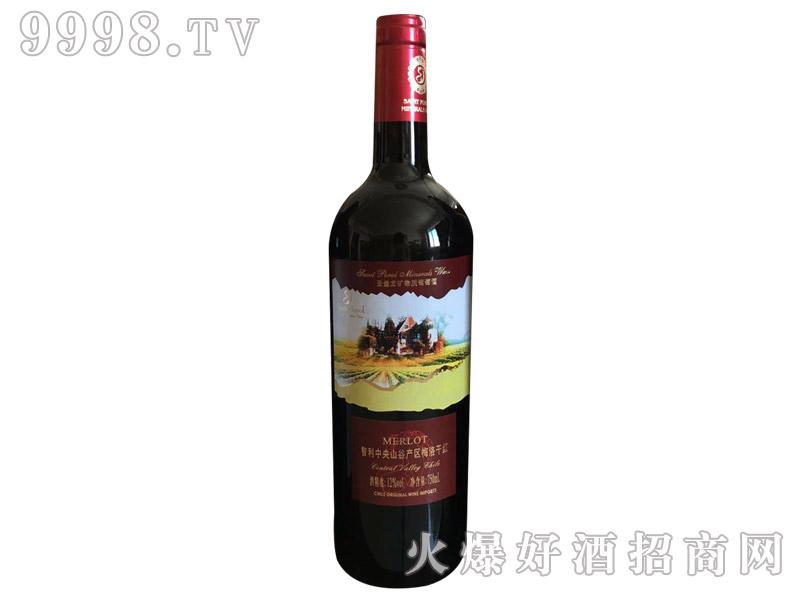 圣堡龙智利中央山谷产区梅洛干红葡萄酒