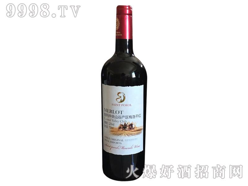 圣堡龙智利中央山谷产区梅洛干红葡萄酒(白标)
