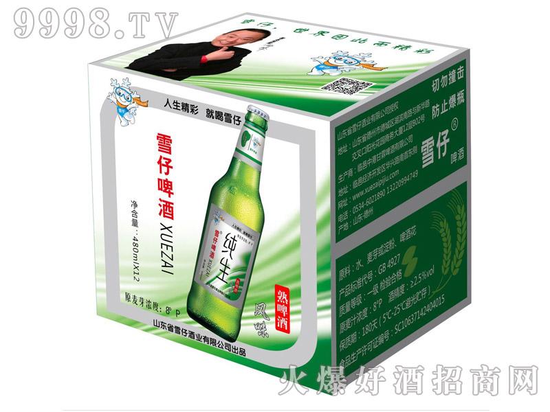 雪仔纯生风味啤酒480ml(箱)