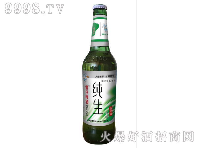 雪仔纯生风味啤酒480ml