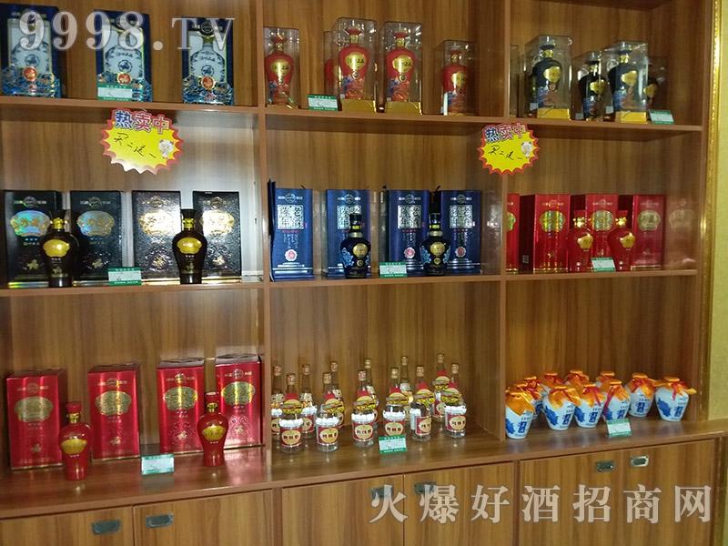 汾酒传世上品酒产品展示柜