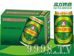 青城纯生态啤酒(绿罐)320mlX24