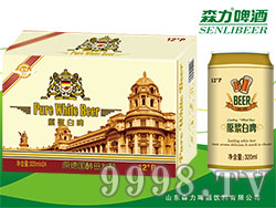 蓝羽原浆白啤酒(黄箱)320mlX24罐