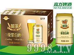蓝羽原浆白啤酒320mlX24罐