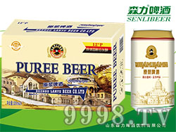 蓝羽原浆白啤酒(黄罐)320mlX24罐