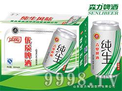 青奥纯生啤酒(绿)320mlX24罐