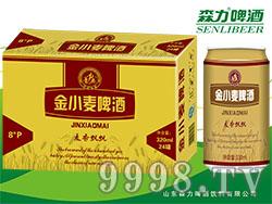 青奥金小麦(金卡)啤酒320mlX24罐