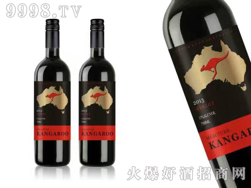 袋鼠梅洛干红葡萄酒