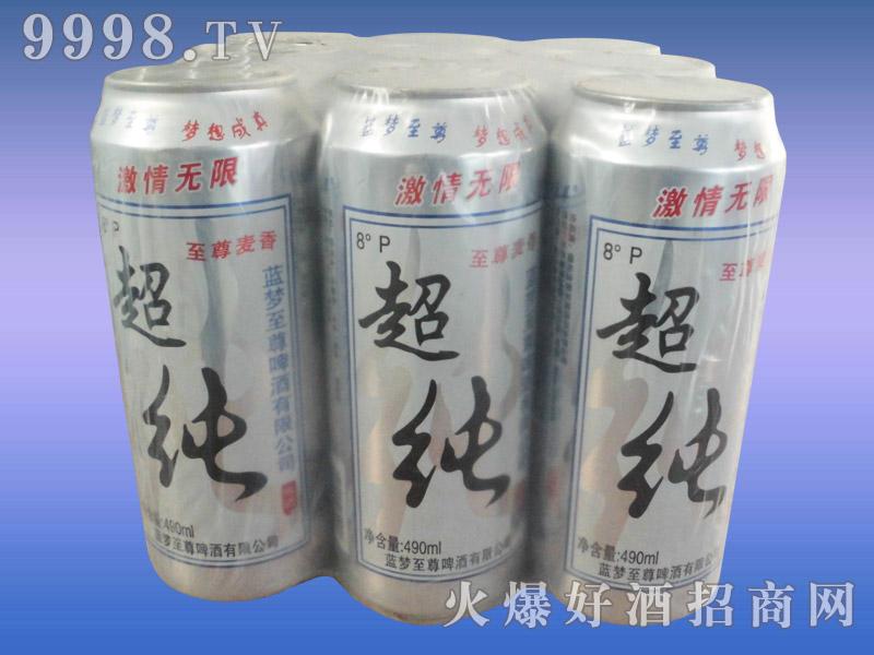 8度蓝韵至尊超纯啤酒塑包