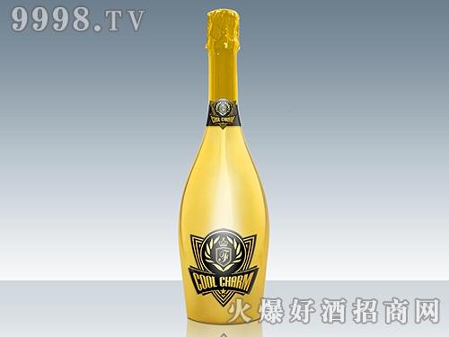 酷魅起泡酒 电镀黄瓶