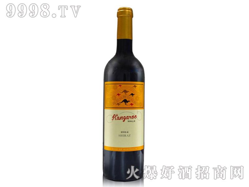 袋鼠行西拉干红葡萄酒
