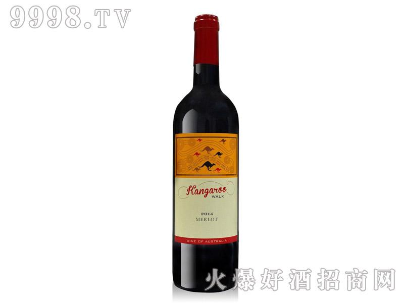 袋鼠行梅洛干红葡萄酒