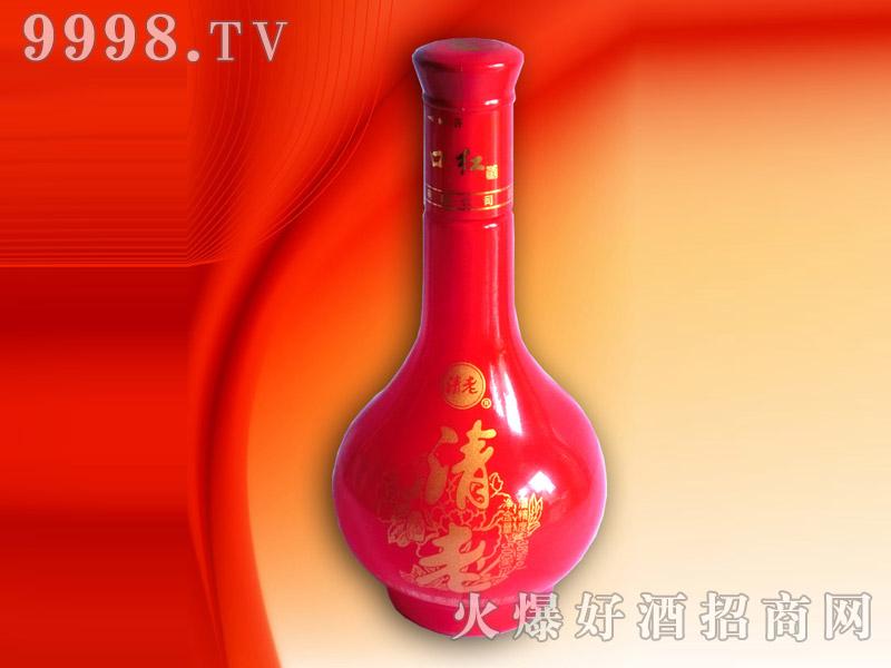 红瓷瓶清老酒