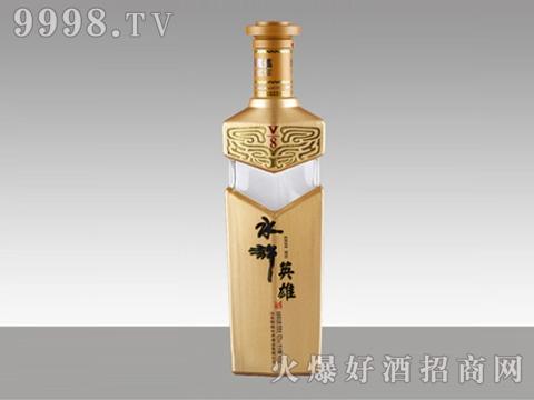 晶白玻璃瓶HM-027水浒英雄500ml