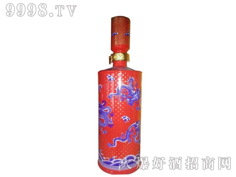 陶瓷坛装红瓶紫龙