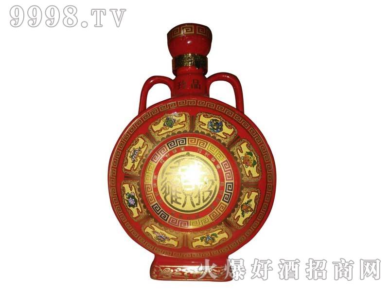 陶瓷坛装红色招财进宝