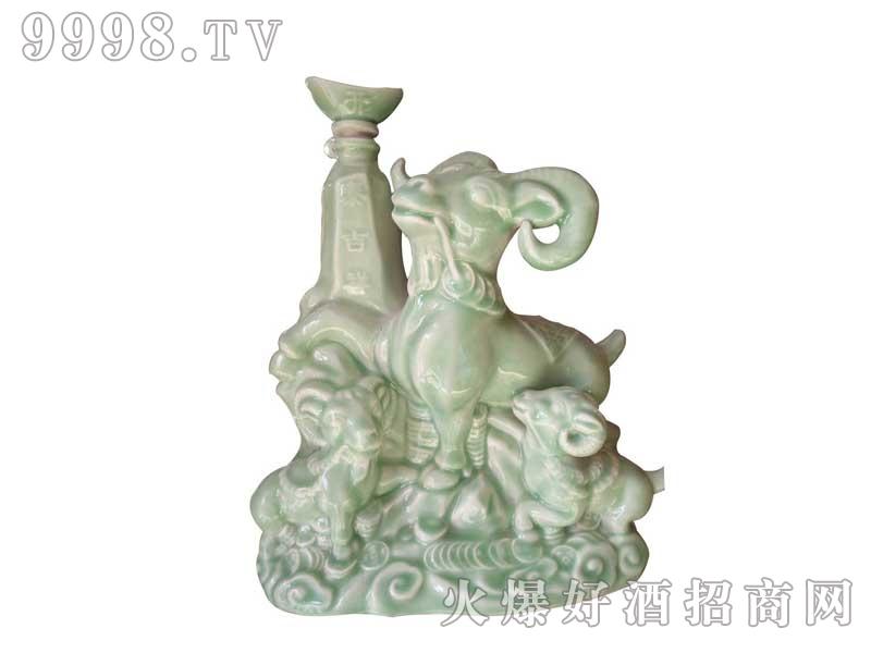 陶瓷坛装青色三阳开泰