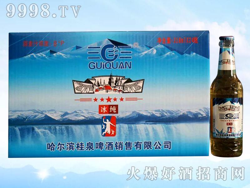 桂泉啤酒・冰纯318mlX24
