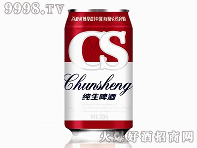 百威英博纯生啤酒罐装