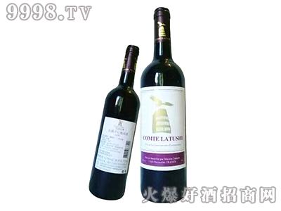 拉图仕伯爵干红葡萄酒-红标