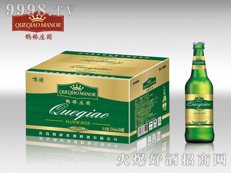鹊桥庄园啤酒绿礼盒 330ml×24瓶-啤酒招商信息