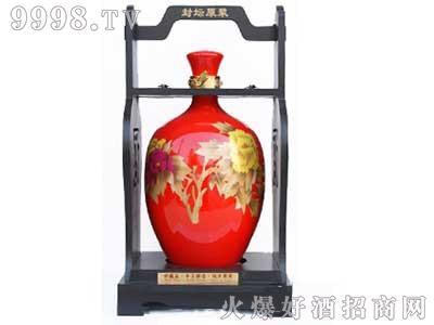 坛子酒红瓶兰花