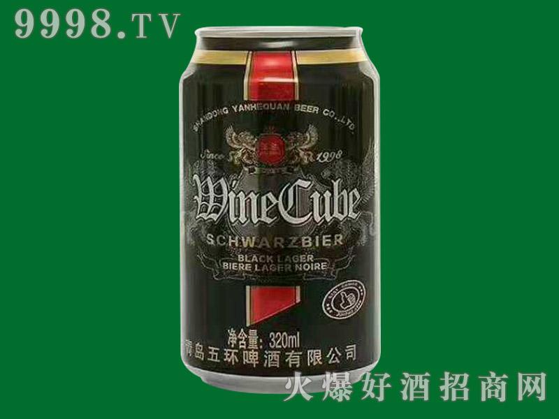 青岛五环皇家黑啤320ml(易拉罐装)