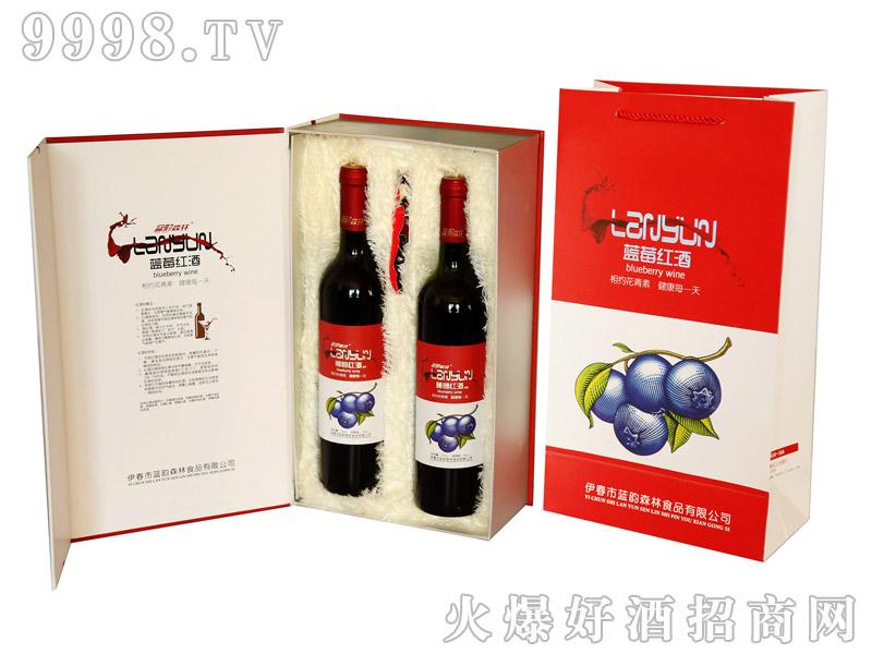 750ml蓝莓红酒礼盒(甜型)双支