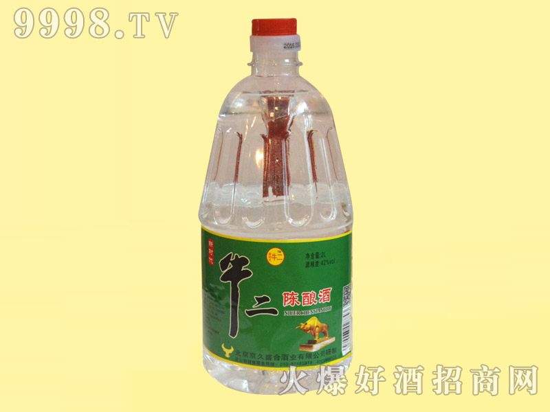 牛二陈酿桶酒42°2L