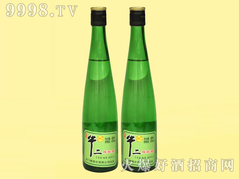 牛二陈酿酒43°480ml・绿瓶