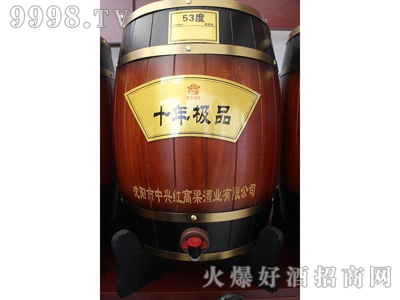 红高粱酒十年极品