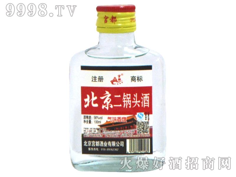 北京二锅头酒56度100ml白瓶