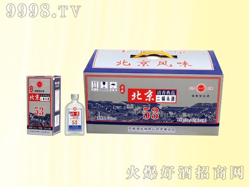 京小二二锅头酒清香典范53度