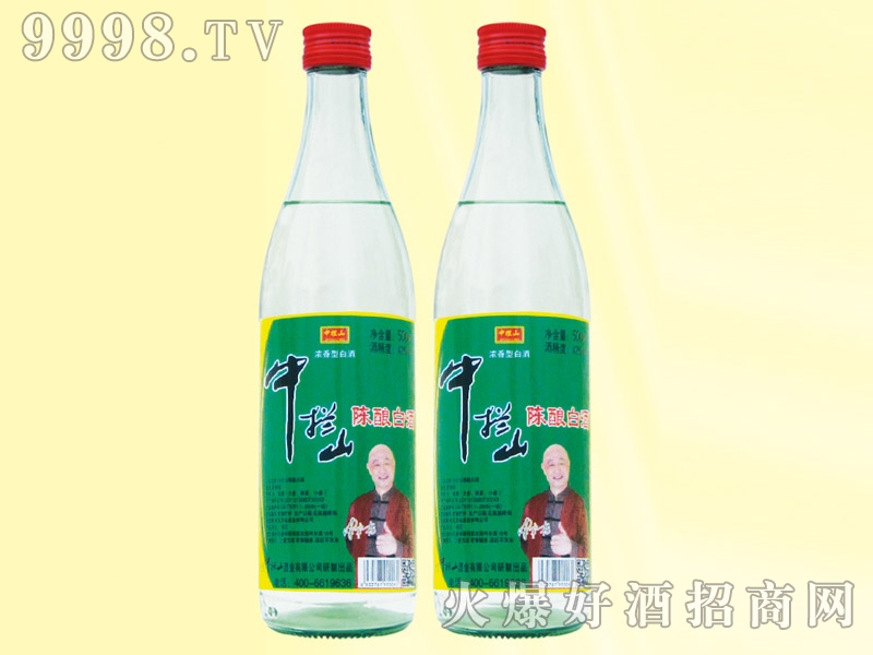 中拦山酒陈酿白酒42度500ml白瓶