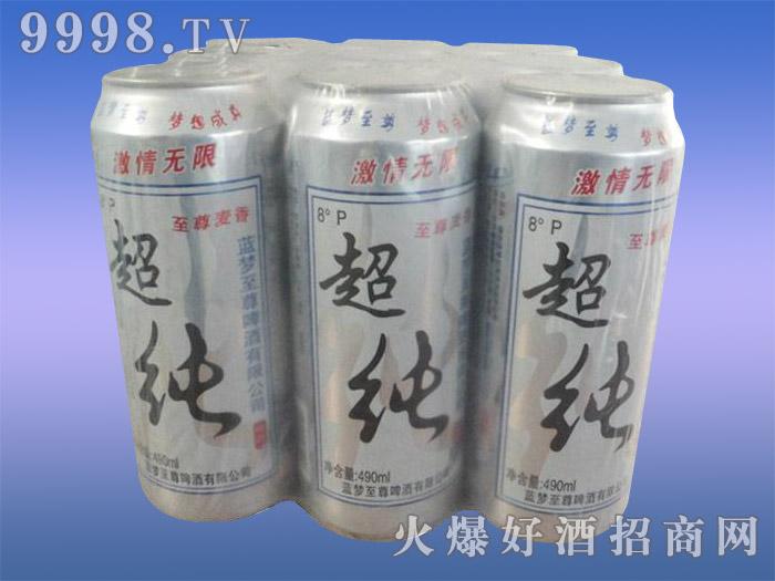 蓝韵至尊超纯啤酒8度490ml×9罐(塑包)