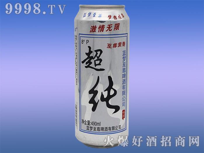 蓝韵至尊超纯啤酒8度490ml