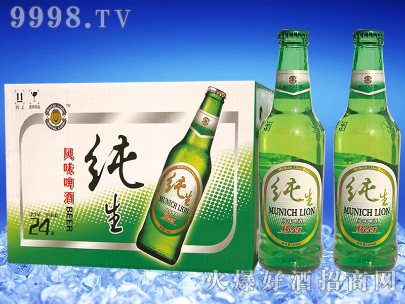 慕尼黑狮纯生(BEER)啤酒330mlx24瓶