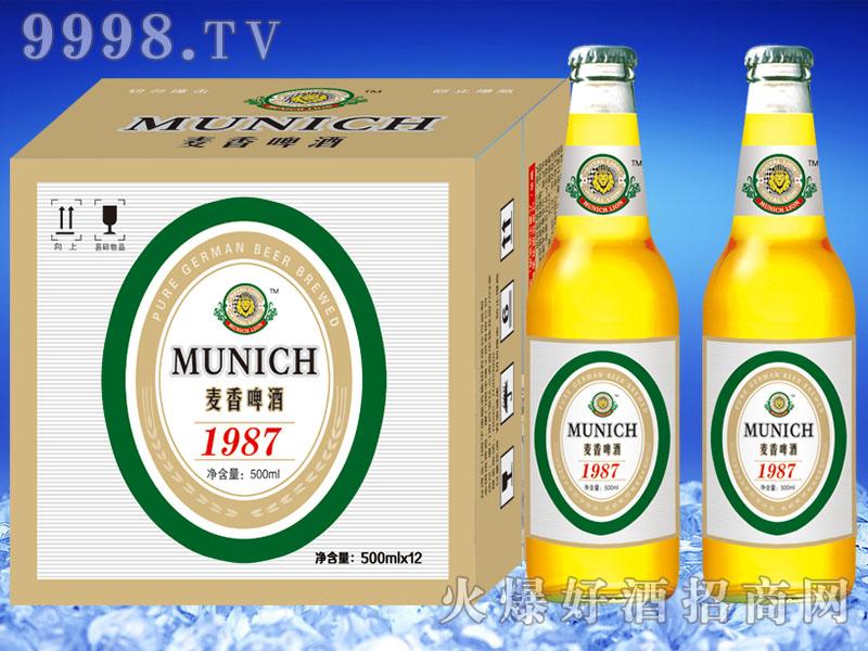 慕尼黑狮麦香啤酒500mlx12瓶