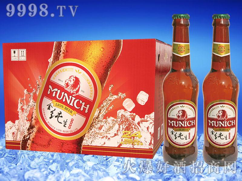 慕尼黑狮金纯生啤酒330mlx24瓶