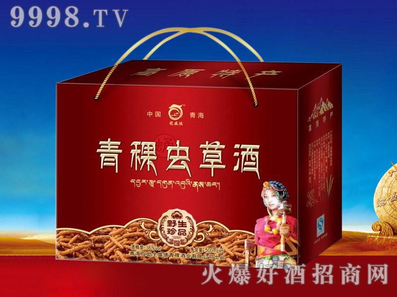 龙盛德青稞虫草酒(红箱)