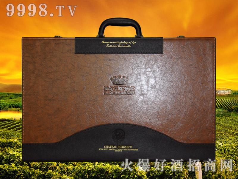 波尔圣堡干红葡萄酒狮王6支皮盒