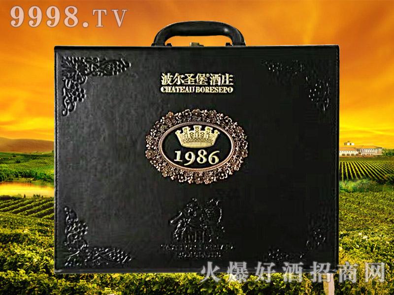 波尔圣堡干红葡萄酒1986(皮盒)