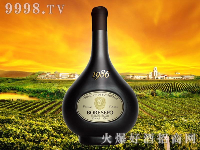 波尔圣堡干红葡萄酒纸标狮王300cl