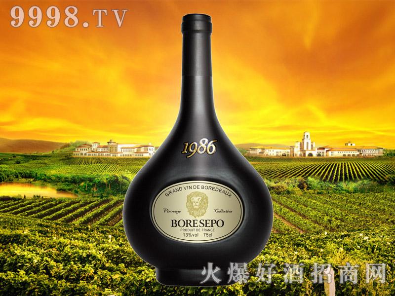 波尔圣堡干红葡萄酒纸标狮王75cl